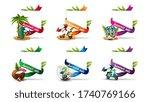 template for a summer discount... | Shutterstock .eps vector #1740769166