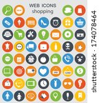 shopping icons vector... | Shutterstock .eps vector #174078464