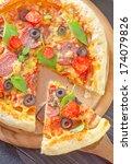 pizza | Shutterstock . vector #174079826