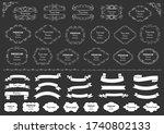 calligraphic design elements .... | Shutterstock .eps vector #1740802133