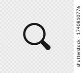 loupe zoom search icon vector