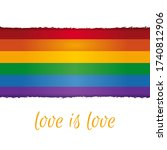 postcard with rianbow flag.... | Shutterstock .eps vector #1740812906