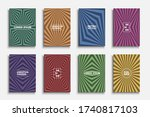 collection of colorful retro... | Shutterstock .eps vector #1740817103