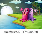 illustration of the two... | Shutterstock . vector #174082328