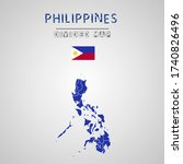 detailed map of philippines...   Shutterstock .eps vector #1740826496