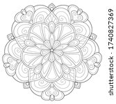 adult coloring book page a zen...   Shutterstock .eps vector #1740827369