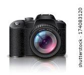 digital photo camera isolated...   Shutterstock .eps vector #174083120