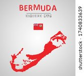 detailed map of bermuda with...   Shutterstock .eps vector #1740833639