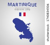 detailed map of martinique with ...   Shutterstock .eps vector #1740834506