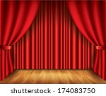 red curtain performance... | Shutterstock .eps vector #174083750