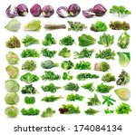 vegetables collection isolated... | Shutterstock . vector #174084134