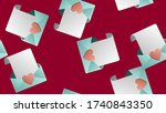 endless seamless pattern of... | Shutterstock .eps vector #1740843350