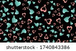 endless seamless pattern of... | Shutterstock .eps vector #1740843386