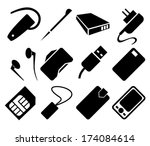 mobile phone accessories icon...   Shutterstock . vector #174084614