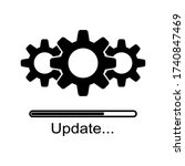 loading process. update system... | Shutterstock .eps vector #1740847469