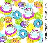 fashion tropics funny... | Shutterstock .eps vector #1740858476
