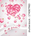 heart made of rose petals saint ... | Shutterstock . vector #174087983