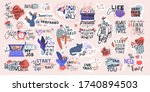 a big set of 27 stickers.... | Shutterstock .eps vector #1740894503