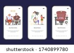 set of movie and cinema mobile...   Shutterstock .eps vector #1740899780