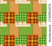 Patchwork Seamless Pattern In...