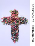 It Is A Cross Made Of Colorful...