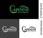 leaf logo icon vector template... | Shutterstock .eps vector #1740916103