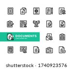 documents vector line icons.... | Shutterstock .eps vector #1740923576