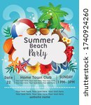 summer beach party sea wave...   Shutterstock .eps vector #1740924260