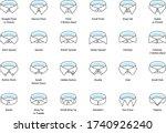 vector line icon set of men's... | Shutterstock .eps vector #1740926240