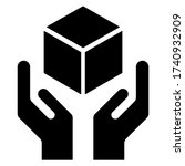 handle with care flat icon...