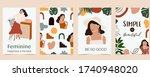 collection of woman background... | Shutterstock .eps vector #1740948020
