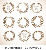 circle floral borders. sketch... | Shutterstock .eps vector #174094973