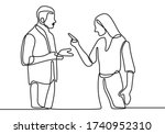 continuous line drawing of... | Shutterstock .eps vector #1740952310