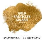 gold splash textured background....   Shutterstock .eps vector #1740959249