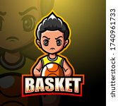 basketball mascot esport logo...