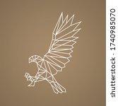 vector eagle polygonal... | Shutterstock .eps vector #1740985070