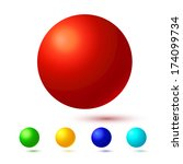 bright spheres vector...