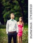 beautiful couple in love...   Shutterstock . vector #174100310