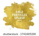 gold paint splotch on white... | Shutterstock .eps vector #1741005200