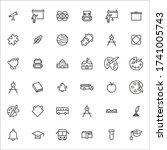set of student related vector... | Shutterstock .eps vector #1741005743