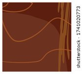 dark brown isolated background... | Shutterstock .eps vector #1741020773