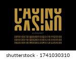 casino slot machine style font... | Shutterstock .eps vector #1741030310