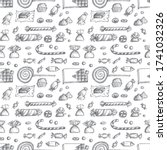 sketched candy seamless pattern.... | Shutterstock . vector #1741032326