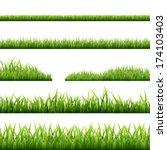 6 grass borders  vector... | Shutterstock .eps vector #174103403