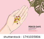 medical pills on hand  pain... | Shutterstock .eps vector #1741035806