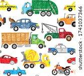 cute kids hand drawn doodle... | Shutterstock .eps vector #1741037366