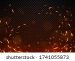 vector illustration fire sparks ... | Shutterstock .eps vector #1741055873