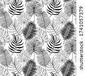 seamless pattern tropical plant.... | Shutterstock .eps vector #1741057379