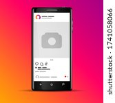 vector illustration instagram... | Shutterstock .eps vector #1741058066