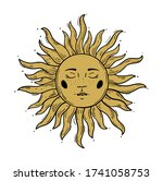 modern pattern in vintage style ... | Shutterstock .eps vector #1741058753